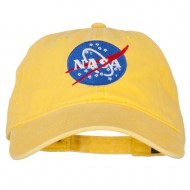 NASA Insignia Embroidered Pigment Dyed Cap - Bright Yellow