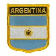 North and South America Flag Embroidered Patch Shield - Argentina