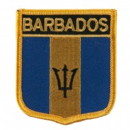 North and South America Flag Embroidered Patch Shield - Barbados