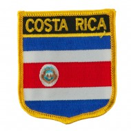 North and South America Flag Embroidered Patch Shield - Costa Rica