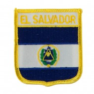 North and South America Flag Embroidered Patch Shield - El Salvador