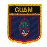 North and South America Flag Embroidered Patch Shield - Guam