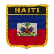 North and South America Flag Embroidered Patch Shield - Haiti