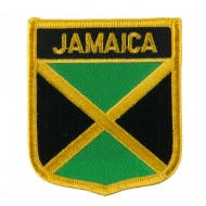 North and South America Flag Embroidered Patch Shield - Jamaica