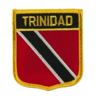 North and South America Flag Embroidered Patch Shield - Trinidad