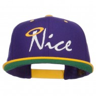 Nice Embroidered Two Tone Snapback - Purple Gold