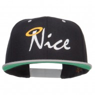 Nice Embroidered Two Tone Snapback - Black Silver