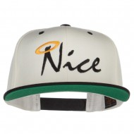 Nice Embroidered Two Tone Snapback - Natural Black