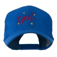 Christmas Noel with Stars Embroidered Cap - Royal
