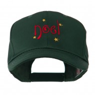 Christmas Noel with Stars Embroidered Cap - Green