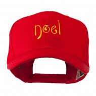 Christmas Noel with Stars Embroidered Cap - Red