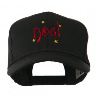 Christmas Noel with Stars Embroidered Cap - Black