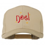 Christmas Noel with Stars Embroidered Cap - Khaki