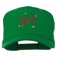 Christmas Noel with Stars Embroidered Cap - Kelly