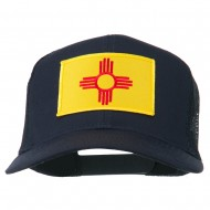 New Mexico State Flag Patched Mesh Cap - Navy