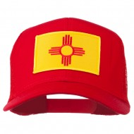 New Mexico State Flag Patched Mesh Cap - Red