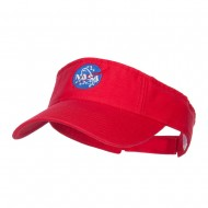 NASA Insignia Embroidered Cotton Washed Visor - Red