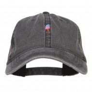 Mini Ice Cream Embroidered Washed Cap - Black