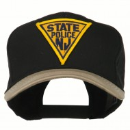 New Jersey State Police Patched Cap - Khaki Black