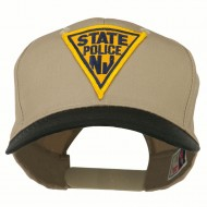 New Jersey State Police Patched Cap - Black Khaki