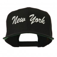 US Eastern State New York Embroidered Snapback Cap - Black