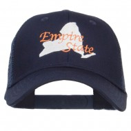New York Empire State Embroidered Trucker Cap - Navy