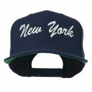 US Eastern State New York Embroidered Snapback Cap - Navy