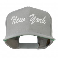 US Eastern State New York Embroidered Snapback Cap - Silver