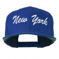 US Eastern State New York Embroidered Snapback Cap - Royal