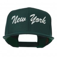 US Eastern State New York Embroidered Snapback Cap - Spruce