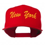 US Eastern State New York Embroidered Snapback Cap - Red