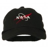 NASA Original Logo Embroidered Pet Spun Cap - Black