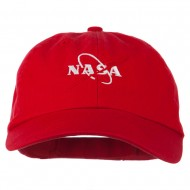 NASA Original Logo Embroidered Pet Spun Cap - Red