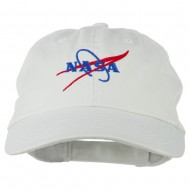NASA Original Logo Embroidered Pet Spun Cap - White
