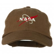 NASA Original Logo Embroidered Pet Spun Cap - Brown