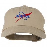 NASA Original Logo Embroidered Pet Spun Cap - Khaki