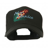USA State Flower New Mexico Yucca Embroidered Cap - Black