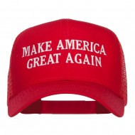 Make America Great Again Embroidered Mesh Cap - Red