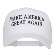 Make America Great Again Embroidered Mesh Cap - White