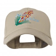 USA State Flower New Mexico Yucca Embroidered Cap - Khaki
