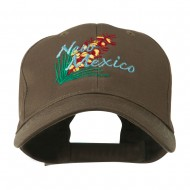 USA State Flower New Mexico Yucca Embroidered Cap - Brown