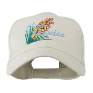 USA State Flower New Mexico Yucca Embroidered Cap - Stone