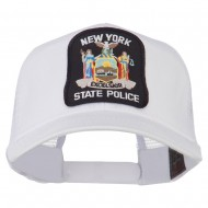 New York State Police Patched Mesh Back Cap - White