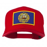 New Hampshire State High Profile Patch Cap - Red