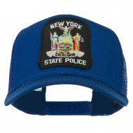 New York State Police Patched Mesh Back Cap - Royal