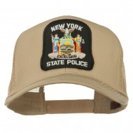 New York State Police Patched Mesh Back Cap - Khaki