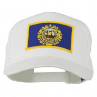 New Hampshire State High Profile Patch Cap - White