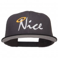 Nice Embroidered Mesh Snapback Cap - Black Charcoal