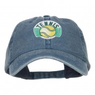 Tennis Ball Patched Washed Cap - Navy