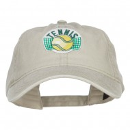 Tennis Ball Patched Washed Cap - Stone